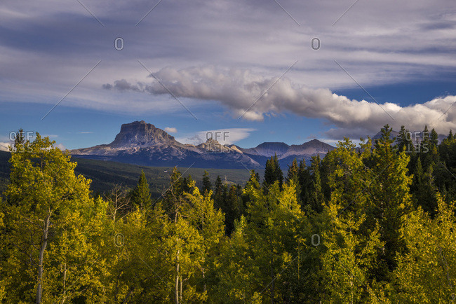 USA, Montana, Glacier National Park, Chief Mountain, East of the Park