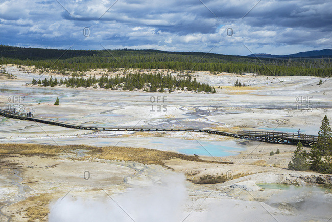 USA, Wyoming, Yellowstone National Park, Norris Geyser Basin UNESCO World Heritage List