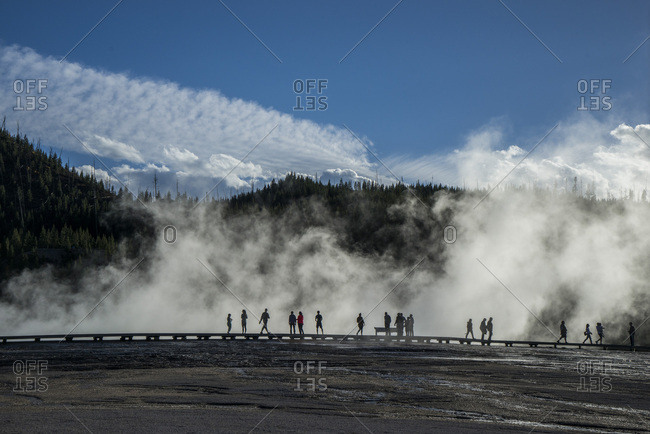 USA, Wyoming, Yellowstone National Park, Grand Prismatic Spring, Midway Geyser Basin , UNESCO World Heritage List