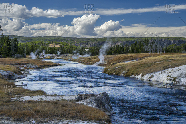 USA, Wyoming, Yellowstone National Park, Fire Hole River , UNESCO World Heritage List