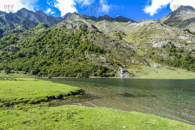 France, Pyrenees National Park, Occitanie region, Val d'Azun, Estaing lake