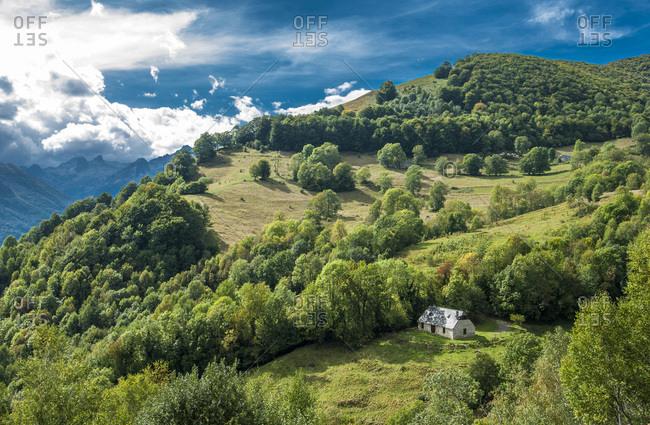 France, Pyrenees National Park, Occitanie region, Val d'Azun, Ouzoum valley near Arbeost