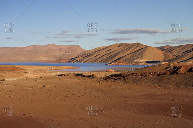 Hassan Addakhil Lake near Errachidia in Morocco