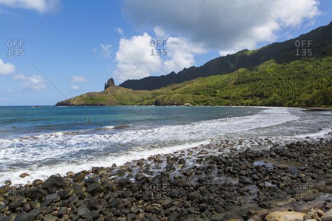 Puamau Bay, Hiva Oa Island, Marquesas Islands, French Polynesia