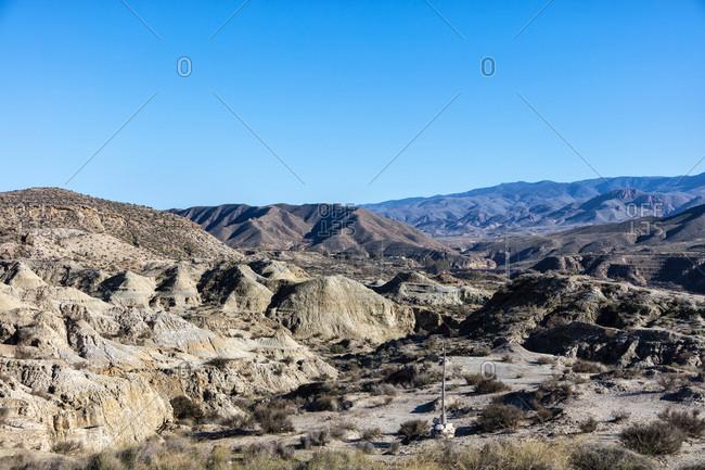 Tabernas Desert, Almeria, Andalucia, Spain