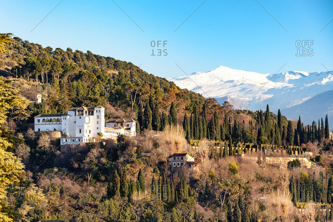 View of Generalife, Granada, Province of Granada, Andalusia, Spain, Western Europe