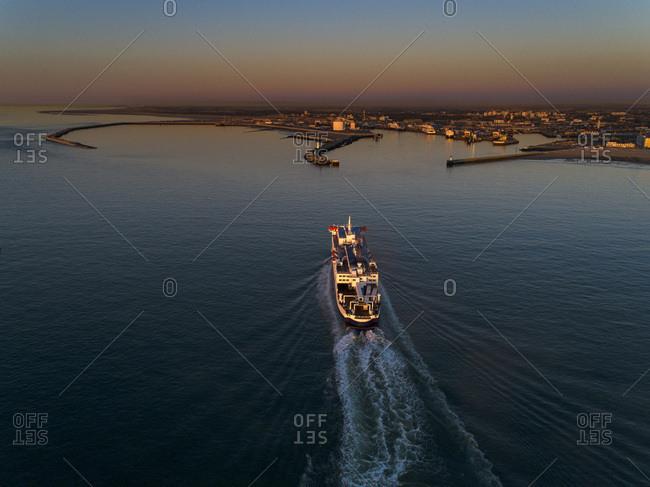 France, Hauts de France, Pas de Calais, aerial pic. Calais harbour
