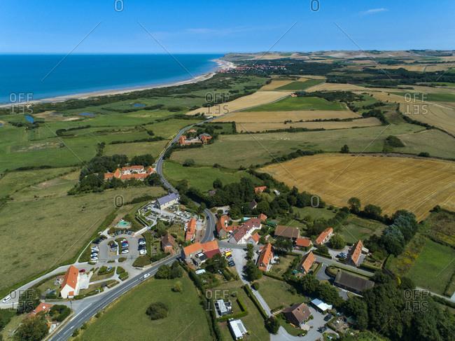 France, Hauts de France, Pas de Calais, aerial pic. Wissant bay