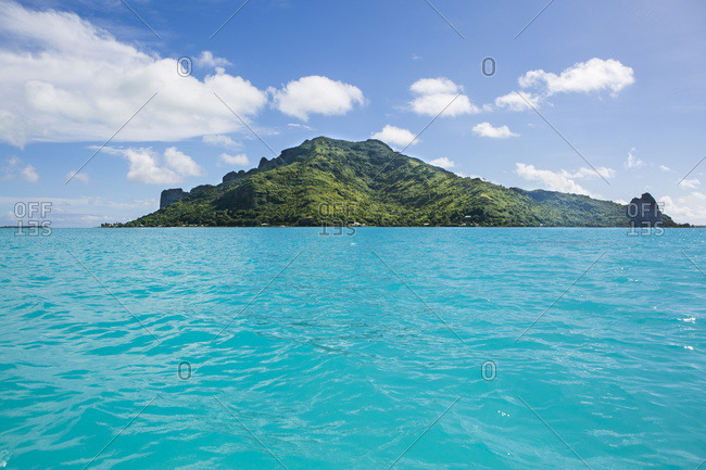 Maupiti Island seen from the lagoon, Leeward Islands, French Polynesia