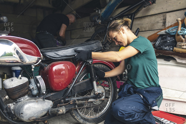 Image result for motorbike in garage