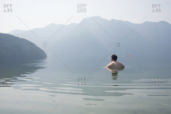 Swimming in Desolation Sound, southern coastal British Columbia, Canada