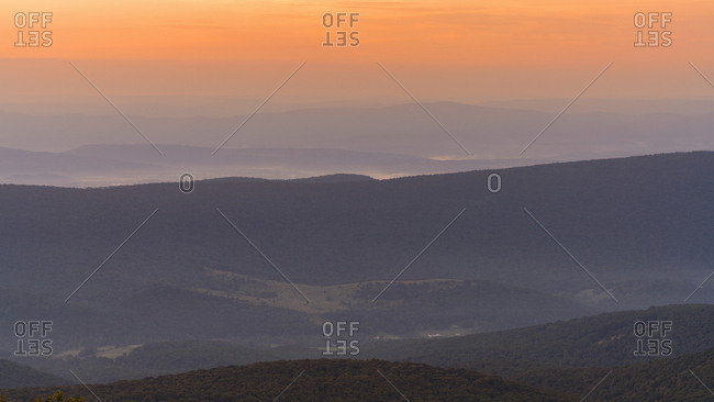 Dolly Sods Wilderness at sunset