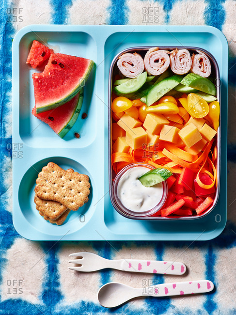Lunchbox rainbow salad
