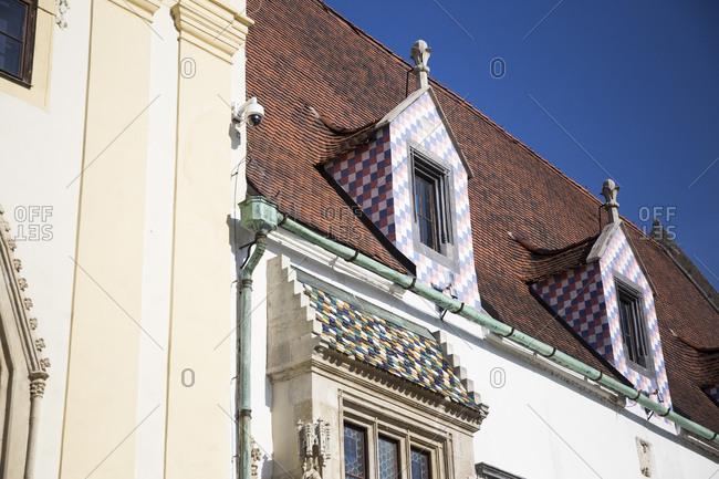 Windows in a building in Bratislava, Slovakia
