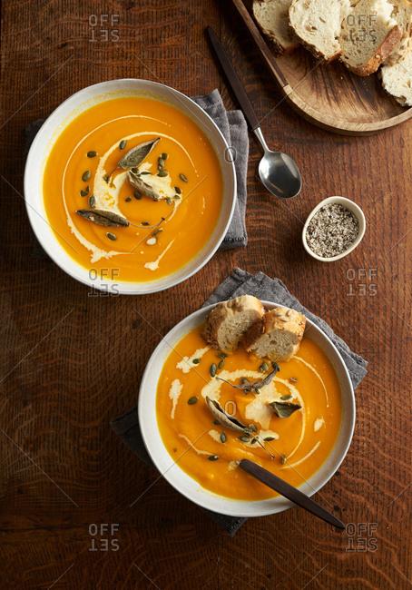 Homemade pumpkin soup - Offset Collection