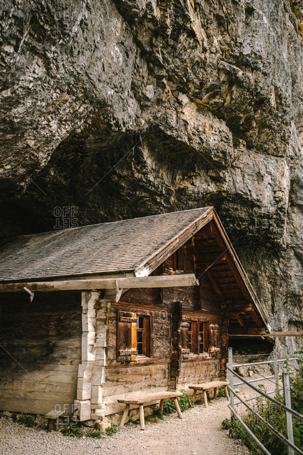 Old cabin in mountains, Zurich, Switzerland