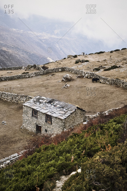Old farm in the Himalayas