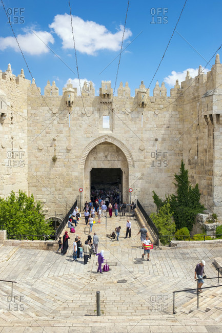 May 23, 2017: Damascus Gate, entrance to Old City of Jerusalem, Israel