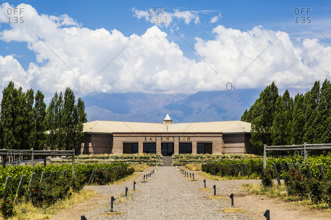January 12, 2018: Exterior of building of Bodega Salentein in Mendoza, Argentina