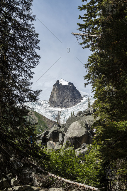 July 22, 2016: Majestic natural scenery with Hounds Tooth peak, Bugaboo Provincial Park, British Columbia, Canada