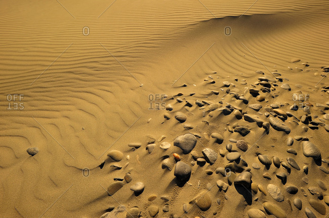 Stones in Sand of a dune