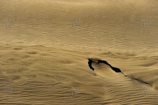 Sand structure in a dune
