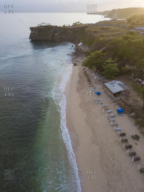 Indonesia- Bali- Aerial view of Balangan beach