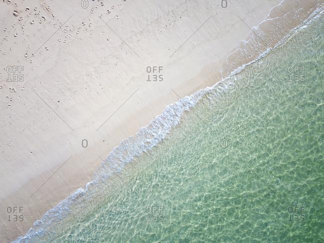 Indonesia- Bali- Aerial view of Karma beach