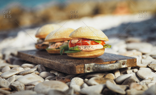 Panini with shrimps