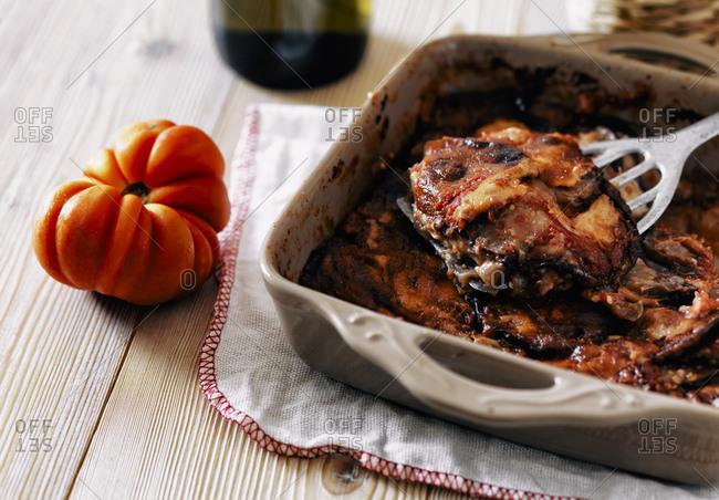 Roasting tray with Parmigiana