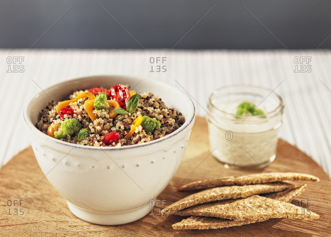 Quinoa salad with various vegetables
