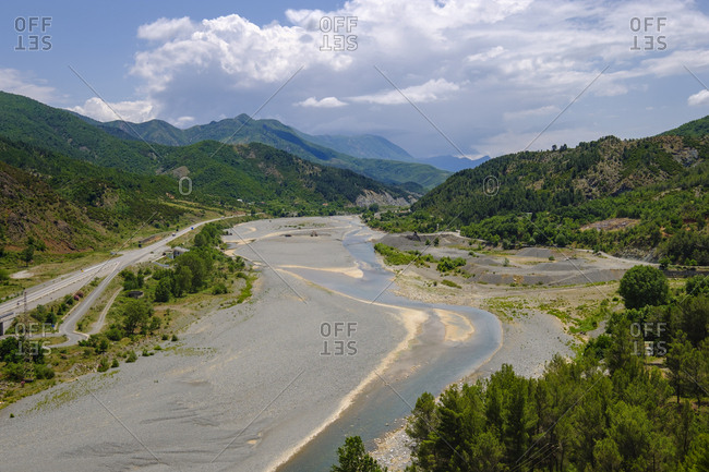 Albania- Lezhe County- near Rubik- Fan river