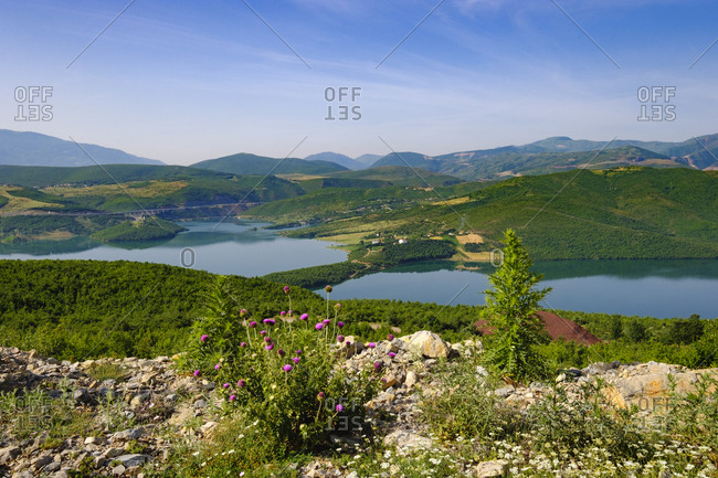 Albania- Kukes- County- Fierza reservoir- Drin river