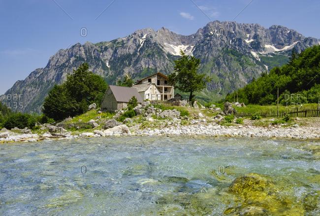 Albania- Kukes County- Albanian Alps- Valbona National Park- Kukaj river- settlement Kukaj