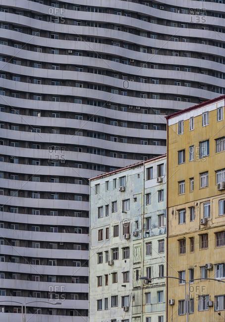 Georgia- Adjara- Batumi- Modern and old house fronts