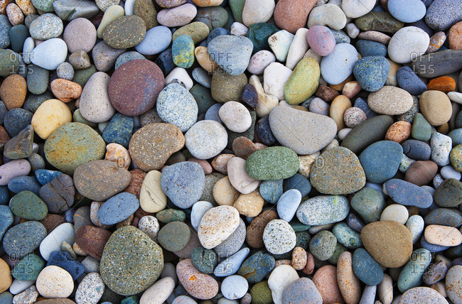 Colorful pebbles- full frame