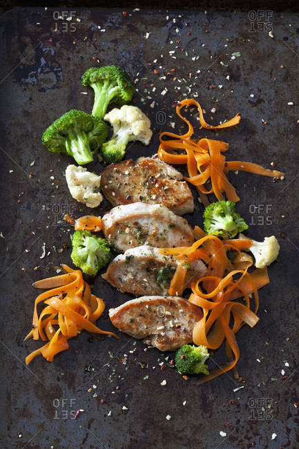 Fillet of turkey and vegetables