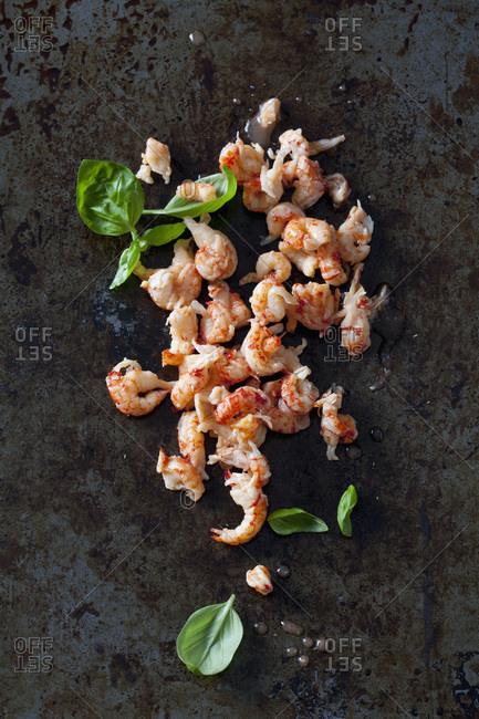 Crayfish and basil