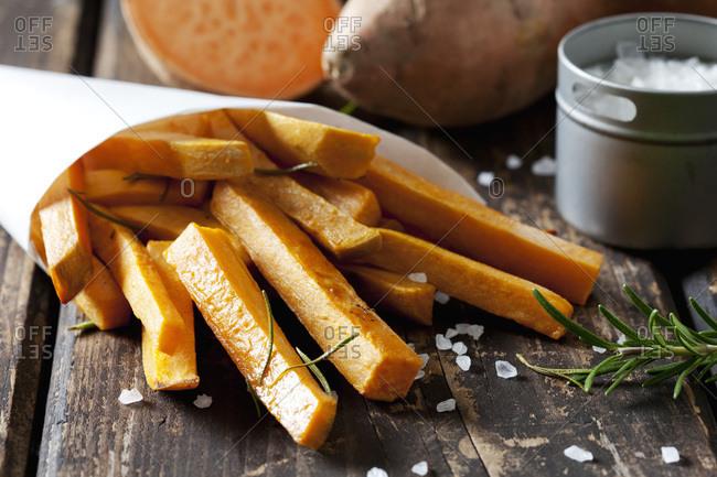 Sweet potato fries with rosemary