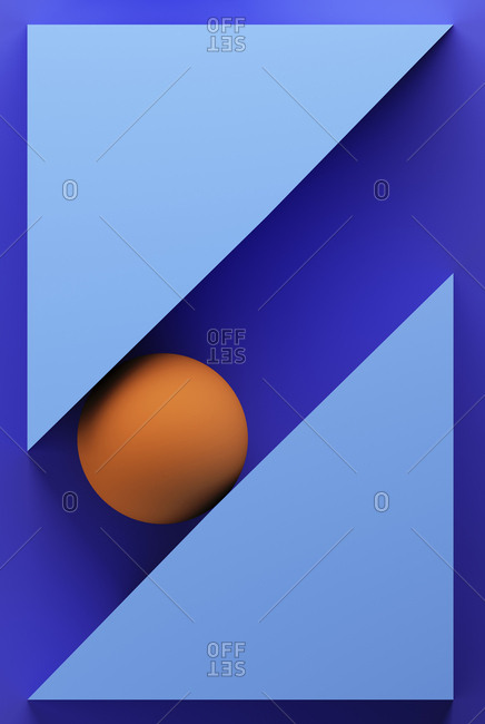 Purple background with geometric shapes