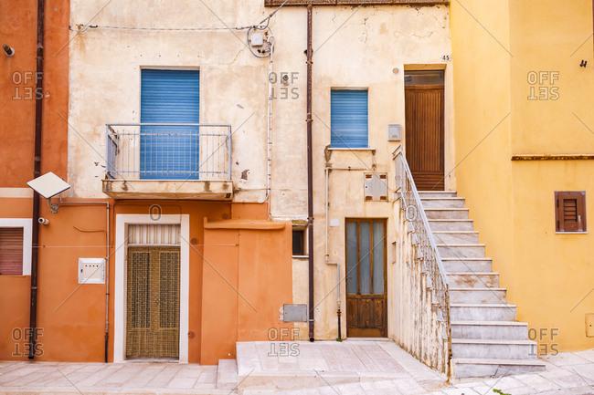 Italy- Molise- Termoli- Old town- houses