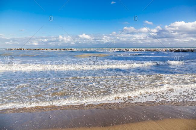 Italy- Molise- Termoli- Adriatic Sea- beach