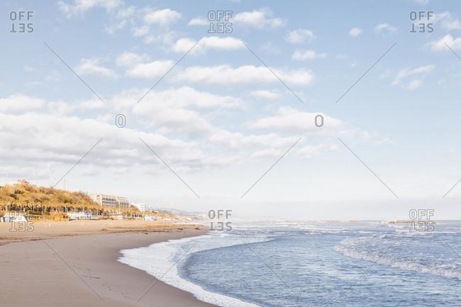 Italy- Molise- Termoli- beach at early morning