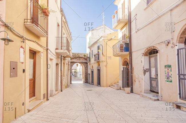 Italy- Molise- Termoli- Old town- empty alley