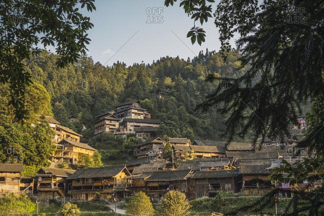 China- Guizhou- Miao settlement