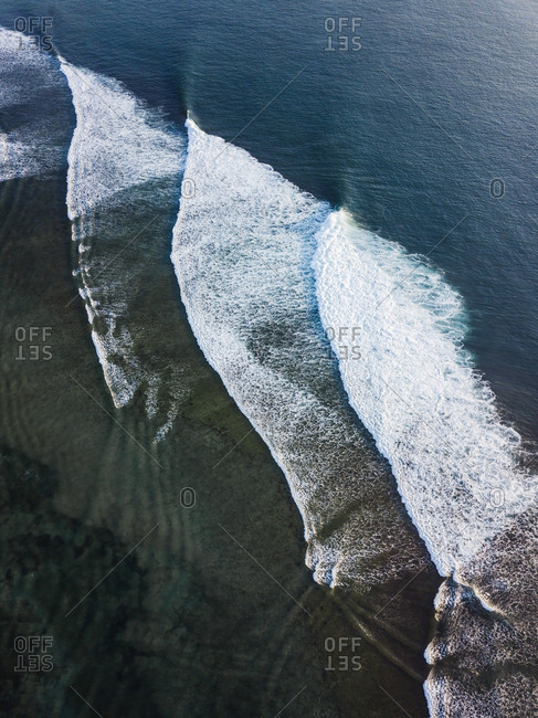 Indonesia- Bali- Aerial view of Indian Ocean- waves
