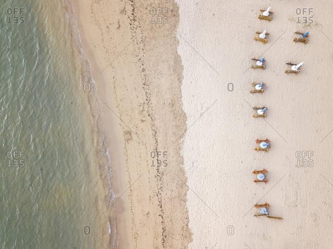 Indonesia- Bali- Aerial view of Saner beach