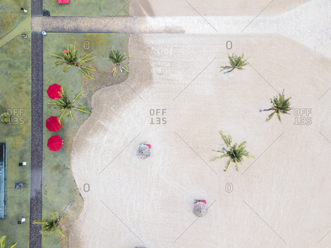 Indonesia- Bali- Aerial view of Nusa Dua beach- from above