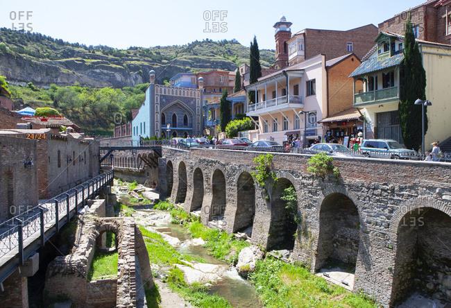 May 2, 2018: Georgia- Tbilisi- Orbelani bath- sulfuric bath