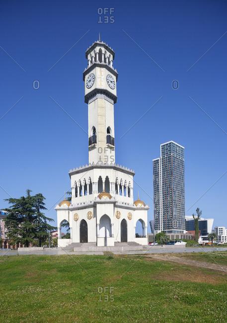 May 7, 2018: Georgia- Adjara- Batumi- Miracle Park- Chacha Clock Tower